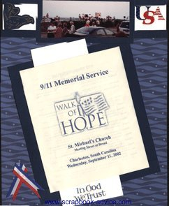 Patriotic Scrapbook Layout to remember 9-11-2001