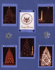 National Christmas Trees Scrapbook Layout