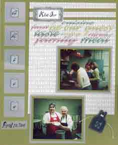 Recipe Scrapbook Layout