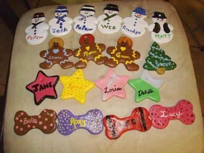 <b>Salt Dough Ornaments that my Family Made.</b>