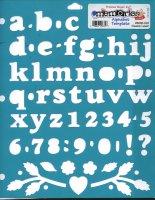 Font Scrapbooking Stencil