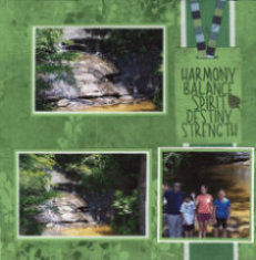 Table Rock State Park Scrapbook Layout