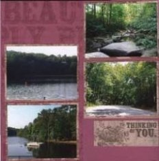 Table Rock Park Outdoor Scrapbook Layout