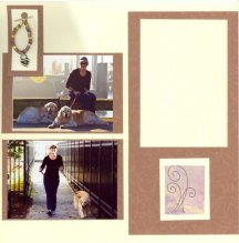 Dog Scrapbook Layout