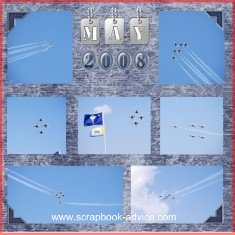 Air Force Thunderbirds Scrapbook Layout