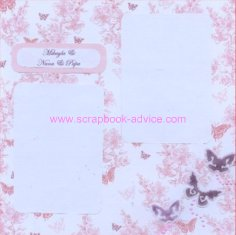 Baby and Mommy Scrapbook Page Layout