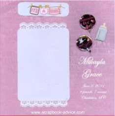 Baby Scrapbook Album Title Page Layout