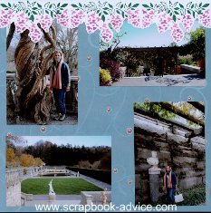 Biltmore Estate Scrapbook Layout Spellbinders