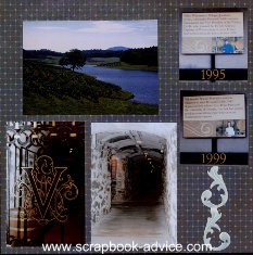 Biltmore Estate Scrapbook Layout Gatefold Page Protectors