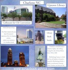 Charlotte NC Scrapbook Layout