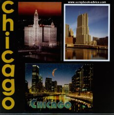 Chicago Scrapbook Layout Idea