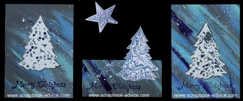 Cloisonne Christmas Cards with Michael Strong Stamp