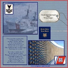 Coast Guard Scrapbook Layout