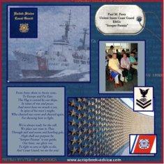 Coast Guard Scrapbook Layout