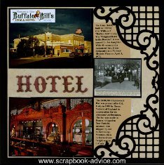 Cody WY Itma Hotel Scrapbook Layout