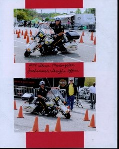 Palmetto Police Motorcycle Competition Scrapbook Layout