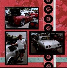 Corvette Car Show Scrapbook Layouts