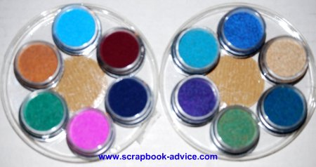 Embpssoing Powders Assortments Wheel from PK Glitz