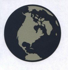 die Cut of Earth from outer Space for Scrapbook Embellishment