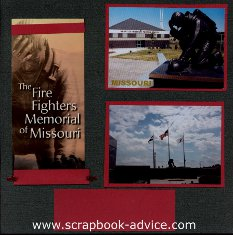 Firefighters Memorila of Missouri Scrapbook Layout