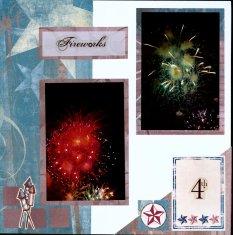 Fireworks Scrapbook Layout