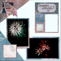 July 4th Fireworks Scrapbook Layouts