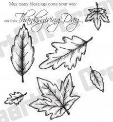 Heartfelt Creations Open Falling Leaves Stamp