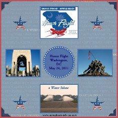 Honor Flight Scrapbook Layout for Memorial Day