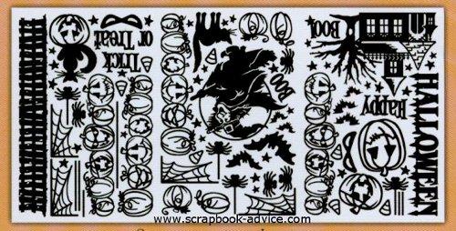 Halloween Scrapook Dazzles with 88 different designs