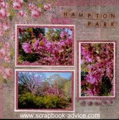 Floral Scrapbook Layout