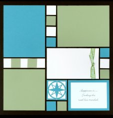 Mosaic Scrapbook Layout Kit