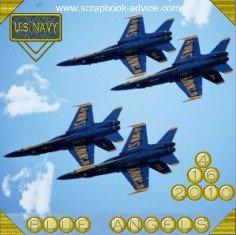 U S Navy Blue Angels Scrapbook Layout
