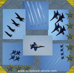 U. S. Navy Blue Angels Scrapbook Layout