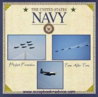 Navy Digital Scrapbook Layout