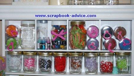 Making Memories Embellishment Center with Jars