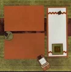 Scrapbook Layout with Ribbon Rick Rack Embellishmet