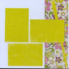 Mixing patterned paper on scrapbook layout