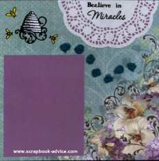Personal Shopper Scrapbook Layout using Doilies