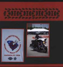 Police Motorcycle Scrapbook Layout