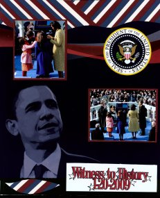 Obama Inauguration Scrapbook Layout