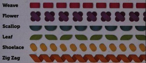 Sew Ribbon Template Designs
