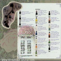 Club Scrap Sonoma Cedar Creek Winery Scrapbook Layout