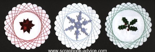 Spirella Designs & Tutorial String Art Scrapbook Embellishments