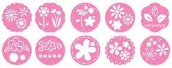 Pebbles Inc. Chalk Stencils 10/Pkg Flowers