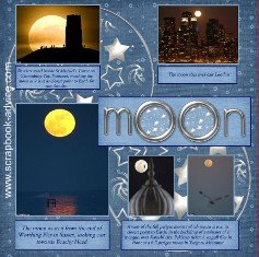 Perigee Super Moon Scrapbook Layout Ideas for Chronological Scrapbook Albums
