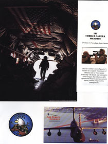 USAF Combat Camera Squadron Scrapbook Layout