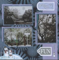Winter Snow Scrapbook Layout