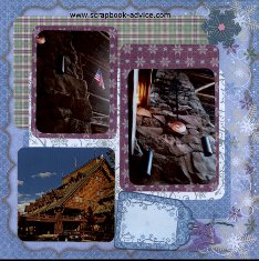 Yellowstone National Parks Old Faithful Inn Scrapbook Layout showing Architecture