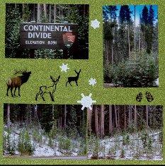 Yellowstone National Park Scrapbook Layout Ideas