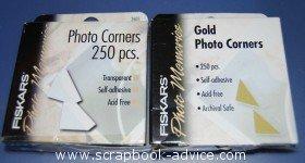 Scrapbook Adhesives Photo Corners White